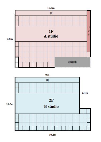 レンタルスタジオ川口 平面図