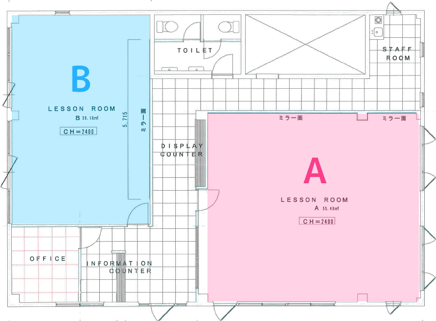 レンタルスタジオ浦和 平面図